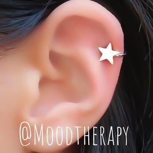 Non Pierced STAR Cartilage Ear Cuff Earring